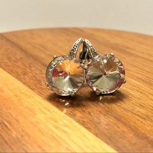 Jewelry - Silver crystal earrings